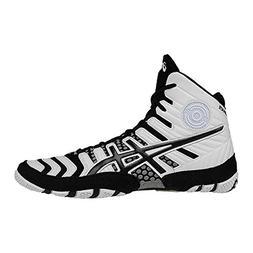 ASICS Men's Dan Gable Ultimate 4 Wrestling Shoe, White/Black