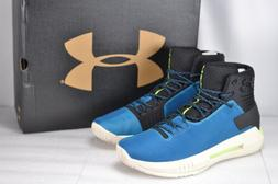 Men's Under Armour Drive 4 Basketball Shoes High Top, Blue &