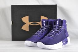 Men's Under Armour Drive 4 Team Basketball Shoes Purple