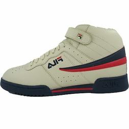 Fila Men's F-13v Lea/syn Fashion Sneakers Cream/Navy/Red