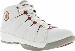 Converse Men's For Three Mid Ankle-High Leather Basketball S