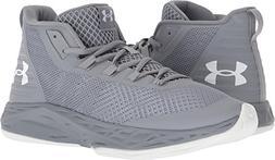 Under Armour Men's Jet Mid Basketball Shoe, Steel /White, 9
