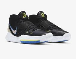 Men's Nike Kyrie 6 Basketball Shoes Black Soar BQ4630-004 Mu