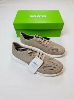 Crocs Men's Literide Pacer M Shoes Cobblestone/White Size 8