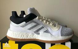Men's Adidas Marquee Boost Low Basketball Shoes White/Grey G