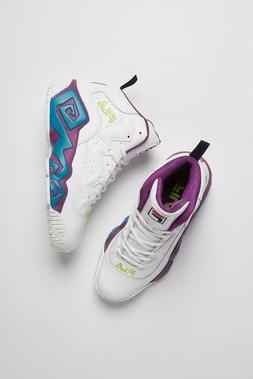 Fila men's MB white purple turquoise shoes