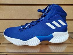 Men's Adidas Pro Bounce 2018 Blue Basketball Shoe Brand New