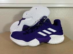 Men's Adidas Pro Bounce 2018 Low Basketball Shoes Purple B42