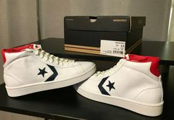 Converse Men's Shoes Pro Leather Plus Mid Mid White/Blue/Red