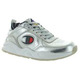Champion Mens 93 Eighteen Metallic Silver Basketball Shoes 7