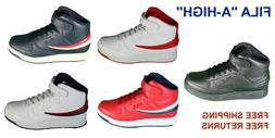 """Mens Fila """"A-High"""" Leather Sneaker Casual Athletic Basketbal"""
