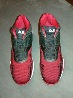 Fila Mens Black/Red/White Basketball Shoes Contingent Sneake