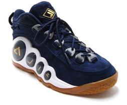 Mens Fila BUBBLES Royal Retro Basketball Shoes Navy Suede Go