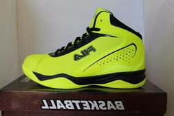 Mens Fila Contingent Safety Yellow Black Basketball Shoes Sn