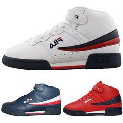 Mens Fila F13 F-13 Classic Mid High Top Basketball Shoes NAV