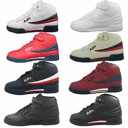Fila Mens F13 F 13 Leather High Mid Top Casual Classic Baske