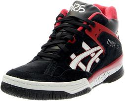 Mens Asics Gel Spotlyte High Top Sneakers - Black/White/Red