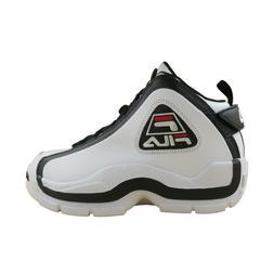 Mens Fila Grant Hill 2 Retro Basketball Shoes White Black Re