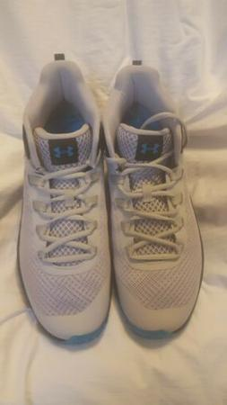 Under Armour Mens Jet Mid Gray Basketball Shoes Size 10.5