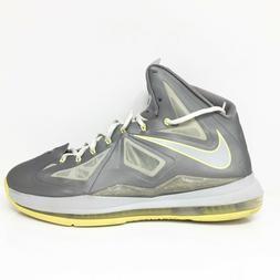 Nike Mens LeBron 10 541100-007 Gray Basketball Shoes Lace Up