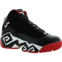 Fila Mens MB Leather Logo Trainer Basketball Shoes Sneakers