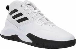 Adidas Mens OwnTheGame Basketball Shoes. Color- White Black.