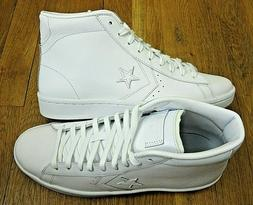 Converse Mens PL 76 Mid Leather Basketball Shoes Triple Whit