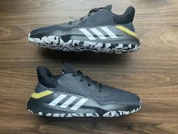 Mens Adidas Pro Bounce 2019 Low Basketball Shoes Black White
