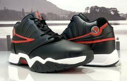Men's Fila Retro Basketball Shoes Black Red White  Size 12