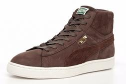 PUMA Mens Trainers Basket Classic Basketball Shoes Brown Sue