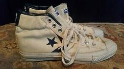 Mens Vtg Converse White Canvas Dr. J Basketball Shoes Size 9