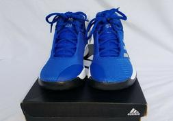 New Boy's Adidas Pro Spark K Basketball Shoes Royal with Sil