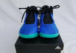 New Boy's Adidas Pro Spark K Wide Basketball Shoes Blue with