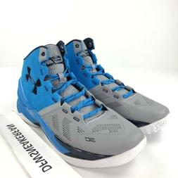 Under Armour Curry 2 Men's 12 Blue Gray SC30 Basketball Sh