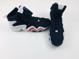 New Men's Adidas Crazy 8 ADV Primeknit CQ0989 Navy Basketbal
