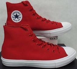 New Mens 11 Converse CT 2 HI Salsa Red Canvas Basketball Sho
