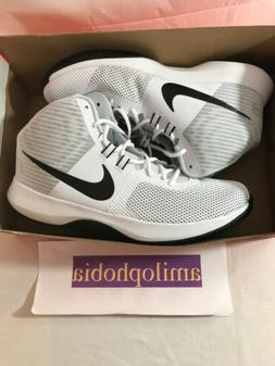 New Mens Nike Air Precision Size 13 White Black Basketball S