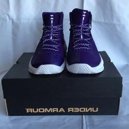 NEW Under Armour Mens High top Basketball lakers purple team
