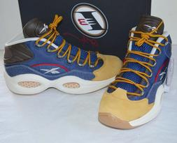 New Reebok Question Mid Dress Code Allen Iverson Blue/Stucco