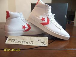 NEW Retro Converse Pro Leather Mid Dr J The Scoop White Red