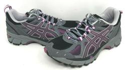 NEW! Women's Asics GEL-Kahana 7 Black/Gray/Purple Size 7 #t0