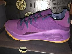NIB Under Armour Curry 4 Low Men Purple Basketball Shoes Siz