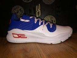 NIB Under Armour Curry 4 Low Mens White Basketball Shoes Siz