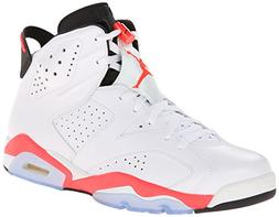 Nike Mens Air Jordan 6 Retro White/Infrared-Black Leather Ba