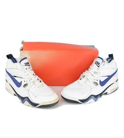 NOS Vintage 90s Nike Air Swift Basketball Sneakers Shoes Whi