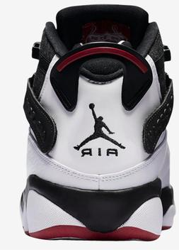NWB MEN'S AIR JORDAN 6 RINGS BASKETBALL SHOES-Black/White/Gy