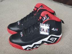 NWT Fila MB Jamal Mashburn Basketball Shoes Black Red Sz 13