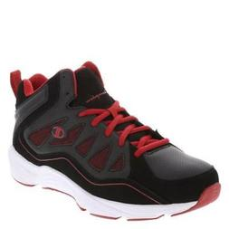 NWT-Mens Champion Playmaker Black & Red Athletic Basketball