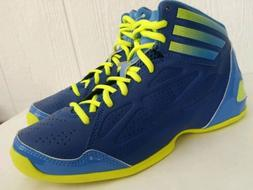 Adidas NXT LVL SPD K Mens Blue Neon Yellow Basketball Shoes