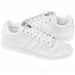 Adidas Originals Top Ten Low TRIPLE WHITE LEATHER Men's Shoe
